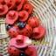 กระดุมไม้ ลาย Lady Bug สีชมพู ขนาด 3 ซม ++ ราคาต่อ 1 หน่วย++ thumbnail 1