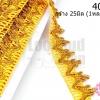 ริบบิ้นดิ้นทอง กว้าง 25มิล (1หลา/90ซม.)