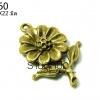 จี้ทองเหลืองรูปดอกทานตะวัน 20X22 มิล (1ชิ้น)