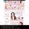ผลงานออกแบบตกแต่งร้านค้าออนไลน์ ร้าน makeupcutebykorea จำหน่ายสินค้าเพื่อความงาม สนใจ แต่งร้านค้าออนไลน์ 085-022-4266