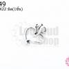 จี้โรเดียม หัวใจ 17X22มิล(1ชิ้น)