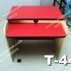"""10 ตัว ตัวล่ะ 1180 บาท T-445 สีแดง/ขาเมเปิ้ล """"เมลามีน"""""""