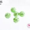 บอลเพชร เกรดดี 8 มิล สีเขียวตอง (1ชิ้น)