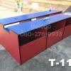"""โต๊ะคอมพิวเตอร์ต่างระดับ ตัวล่ะ 1180 บาท T-114 ฟ้า/ขาแดง """"เมลามีน"""""""