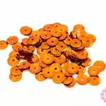 เลื่อมปัก กลม สีน้ำตาลอมส้ม 8มิล(5กรัม)