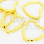 พวงกุญแจหัวใจ ทอง 31X31 มิล(5ชิ้น)