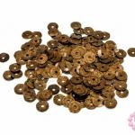 เลื่อมปัก กลม สีน้ำตาลดิสโก้ 6มิล(5กรัม)