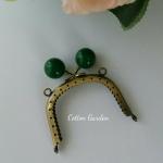 ปากกระเป๋าโลหะหัวสีเขียวเป็ด แบบโค้งขนาด 8 cm น่ารัก