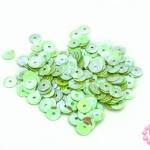 เลื่อมปัก กลม สีเขียวพาลเทลรุ้ง 6มิล(5กรัม)