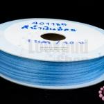เชือกหางหนู สีน้ำเงินอ่อน 3มิล(1หลา/90ซม.)