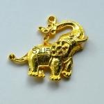 จี้รูปช้างสีทอง ตัวละ 15 บาท ขนาดความกว้าง 35 มิล ยาว 38 มิล