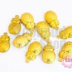 จี้สับปะรด สีทอง 10X18มิล(10ชิ้น)