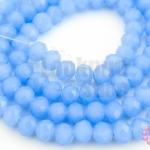 คริสตัลจีน ทรงซาลาเปา สีน้ำเงินอ่อนขุ่น 6มิล(1เส้น)