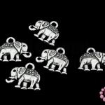 จี้โรเดียม ช้าง 12x14 มิล (5ชิ้น)
