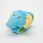 ของเล่นเสริมพัฒนาการ Wrist band สายรัดข้อมือเด็ก หน้าช้าง สีฟ้า เขย่าแล้วมีเสียงกุ๊งกิ๊ง ใช้เป็น ของเล่นเด็ก ของเล่นเสริมทักษะ (ส่งฟรี)