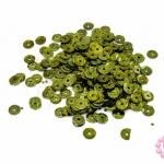 เลื่อมปัก กลม สีเขียวขี้ม้าดิสโก้ 5มิล(5กรัม)
