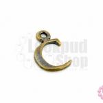 จี้ทองเหลือง ตัวอักษร C 8X14 มิล(1ชิ้น)
