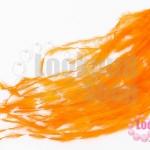 ขนนกกระจอกเทศมีริบบิ้น สีส้ม ยาว 5 ซม.