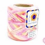 ริบบิ้นสีรุ้ง สีชมพู-ส้ม-เหลือง (1ม้วน/200หลา)