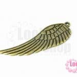จี้ปีกนก สีทองเหลือง 16X50มิล(1ชิ้น)