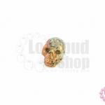 หินอาเกตลาย หัวกระโหลก 22X29มิล (1ชิ้น)