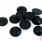 เพชรแต่ง กลม สีดำ ไม่มีรู 14มิล(10ชิ้น)