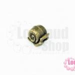 ตัวแต่งหอยทาก สีทองเหลือง 11X12Xรู5มิล(1ชิ้น)