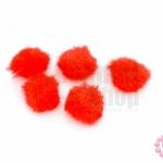 ปอมกำมะยี่ สีแดง 1ซม.(100ชิ้น)