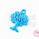 จี้โรเดียม ต้นไม้ สีฟ้า 27 มิล