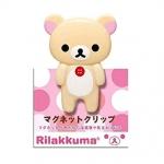 [สินค้าหมด] คลิปแม่เหล็ก San-X Rilakkuma FS14101 หมีขาวยืน