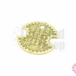 เหรียญจีน สีทองเหลือง 51X54มิล(1ชิ้น)