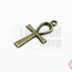 จี้ทองเหลือง ไม้กางแขน 14X26 มิล(1ชิ้น)