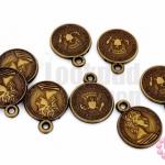 จี้พลาสติกอะคลีลิค เหรียญจีน 17x21มิล (1ขีด/190เม็ด)
