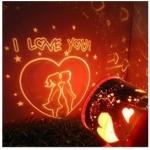 โคมไฟบอกรัก I Love You ช่วยสร้างบรรยากาศให้โรแมนติก ลายจูบ I Love You