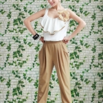 Flower Nude Jumpsuit
