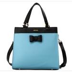 กระเป๋าแฟชั่นเกาหลี แบรนด์ Axixi หนัง PU สีฟ้า-ดำ