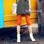 กางเกงเลคกิ้งคลุมท้อง ผ้าคอตตอน : สีส้ม รหัส PN137
