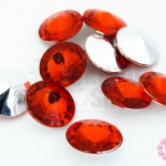เพชรแต่ง กลม สีแดง ไม่มีรู 16มิล(10ชิ้น)