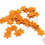 เลื่อมปัก ดอกไม้ สีน้ำตาลอมส้มดิสโก้ 12มิล(5กรัม)