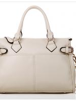 กระเป๋าแบรนด์ axixi หนัง pu แบบเก๋ๆ สีขาว (รับประกันของแท้เหมือนแบบ 100%)