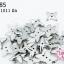 เพชรสอยสีโรเดียม กากบาท2รู 11X11มิล (1ขีด/558ชิ้น) thumbnail 1