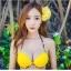 พร้อมส่ง ชุดว่ายน้ำบิกินี่ทูพีซ บราสีเหลืองสวย บิกินี่ลายเสือ sexy thumbnail 2