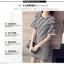 เดรสแฟชั่นเกาหลี ลายขวางเล็ก ชายแขนเสื้อแต่งระบาย thumbnail 2