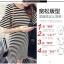 เดรสแฟชั่นเกาหลี ลายขวางเล็ก ชายแขนเสื้อแต่งระบาย thumbnail 4