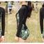 พร้อมส่ง ชุดว่ายน้ำแขนยาว เซ็ต 3 ชิ้น บรา+กางเกงขาสั้น+เสื้อแขนยาว โทนสีเขียวเหลืองดำ thumbnail 5