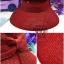 หมวกปีกกว้าง หมวกแฟชั่น กันแดด - Red thumbnail 1