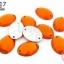 เพชรแต่ง ทรงรี สีส้ม มีรู 13X18มิล(20ชิ้น) thumbnail 1