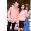 เสื้อกันหนาวคู่รักพร้อมส่ง แฟชั่นคู่รัก ชาย +หญิงเสื้อกันหนาวแบบสวม มีฮูด สีชมพู thumbnail 4