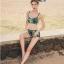 พร้อมส่ง ชุดว่ายน้ำแขนยาว เซ็ต 3 ชิ้น บรา+กางเกงขาสั้น+เสื้อแขนยาว โทนสีเขียวเหลืองดำ thumbnail 8