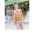 PRE ชุดว่ายน้ำบิกินี่ บรามีโครง สายคล้องคอ กางเกงบิกินี่ พร้อมเสื้อคลุมลายสวยเก๋ thumbnail 20
